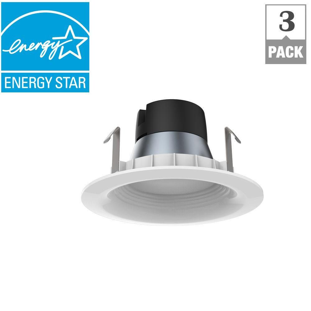 EcoSmart 65W Equivalent Daylight 4 in. E26 Dimmable Downlight LED Light Bulb (3-Pack)