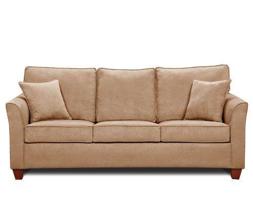 Simmons Micro Fiber Taupe Queen Size Size Sofa Sleeper Sofa