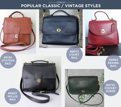 vintage coach bags review shopping care cleaning tips rh pinterest com