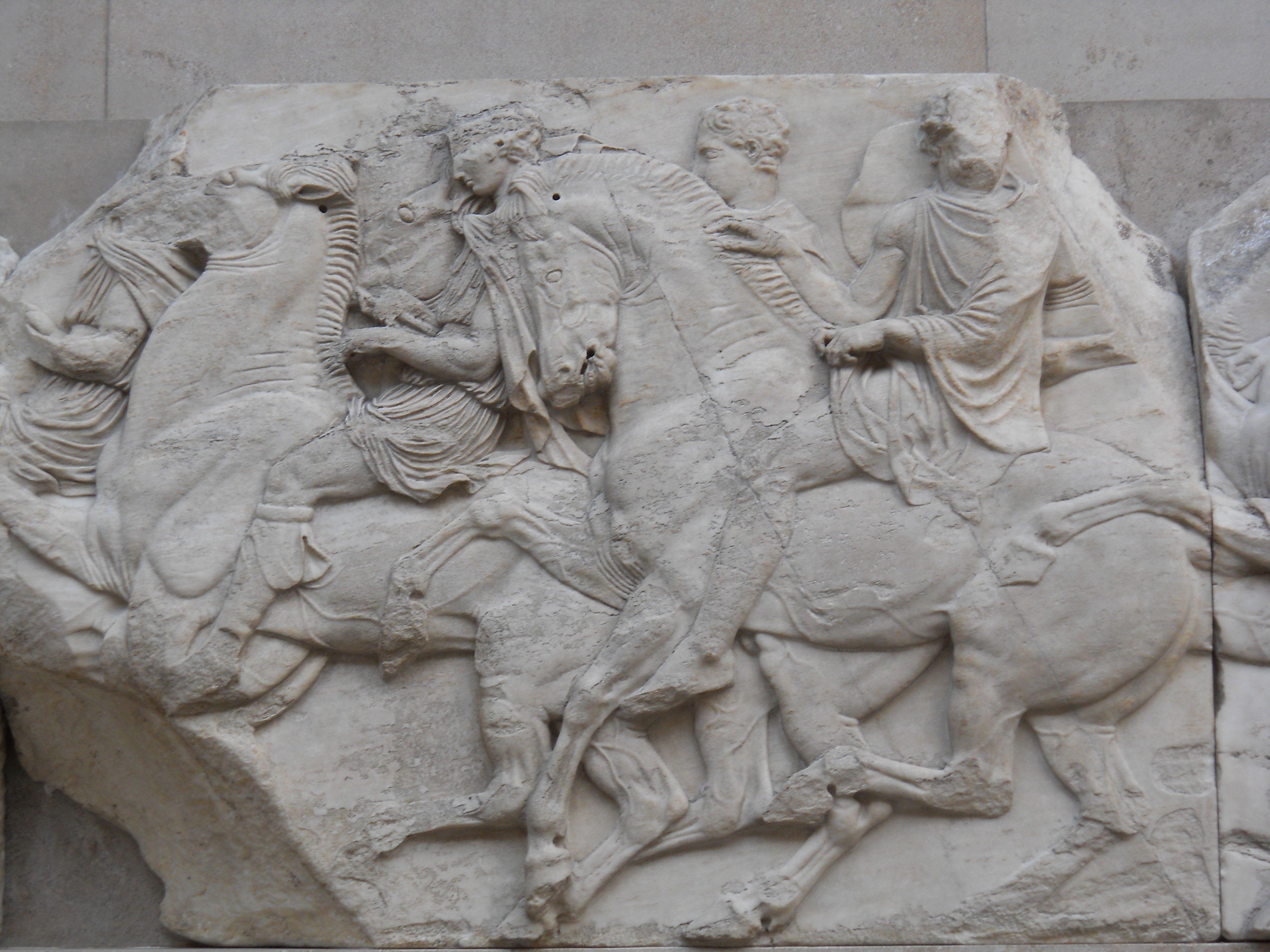 Phidias Greek Sculptor Elgin Marbles From The Parthenon 447 438 Bce British Museum London Parthenon Greek Sculpture Elgin Marbles