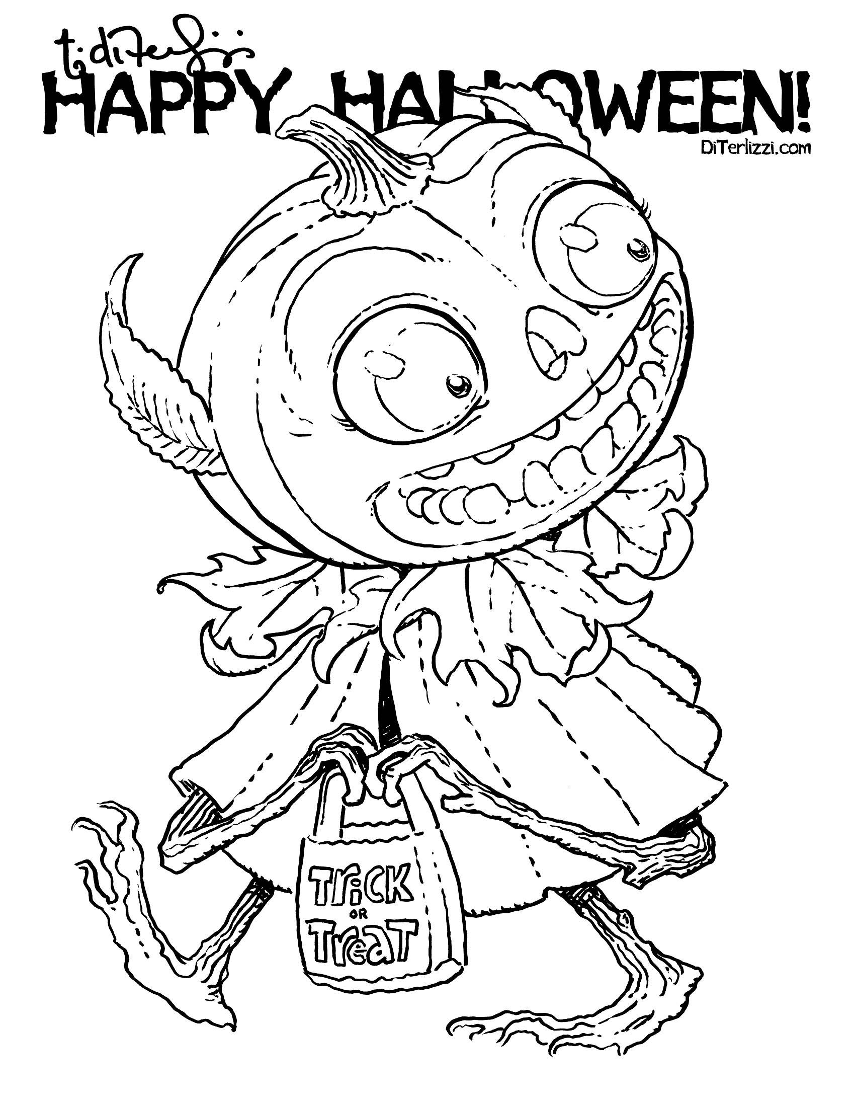 Trick-or-Treat Jack | Coloring book art, Halloween ...