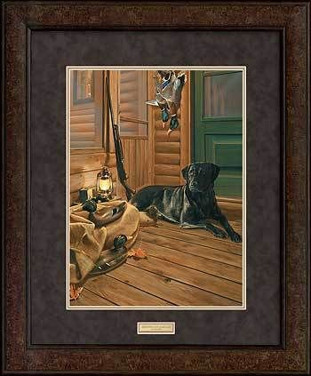 Successful Duck Hunt - Premium Framed Print | Black labs, Wildlife ...