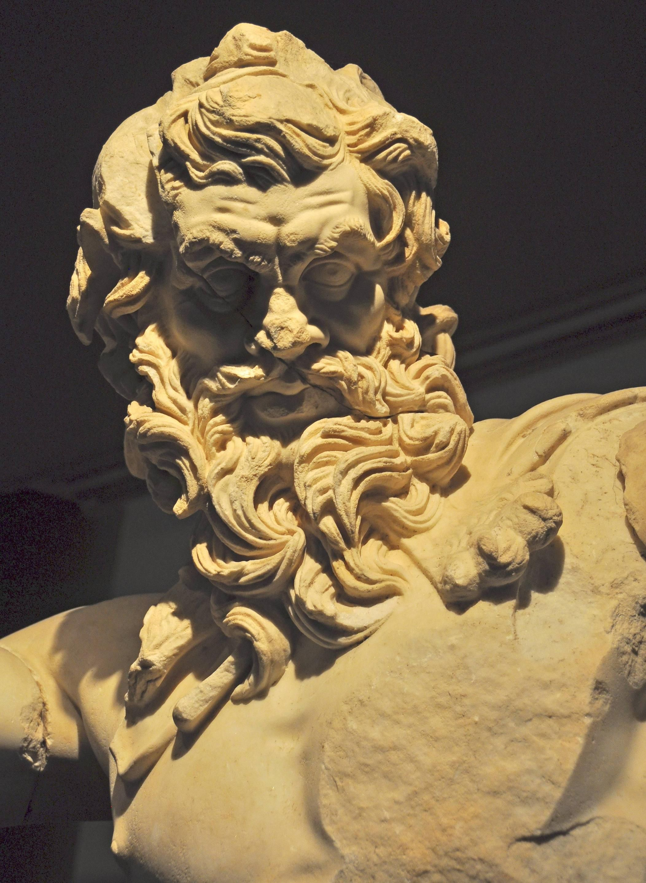 Statue of Zeus, Antalya Museum, Turkey. I have come up with the idea of drawing Ahab resembling a wrathful Zeus.