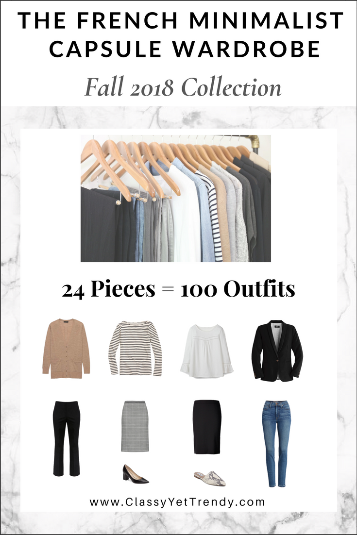 d7541433dc YOU NEED… The French Minimalist Capsule Wardrobe  Fall 2018 Collection!  Inspired by the Fashion Styles of France! A Complete capsule ...