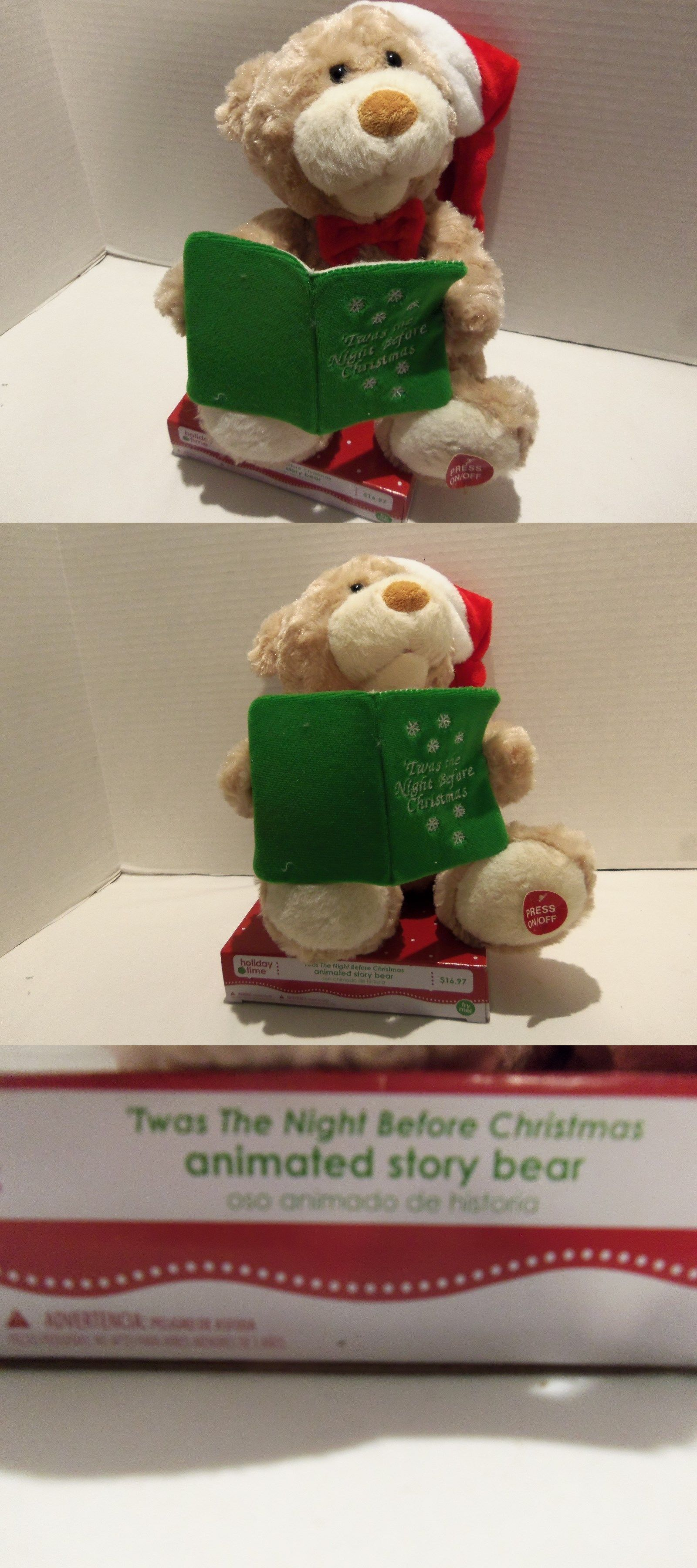 Talking Toys 145945 Twas The Night Before Christmas Talking Moving