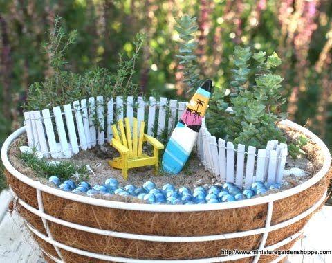 Miniature Gardens with a Beach Theme