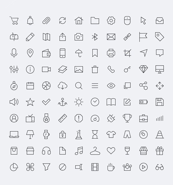 iconos gratuitos para tus proyectos en PSD