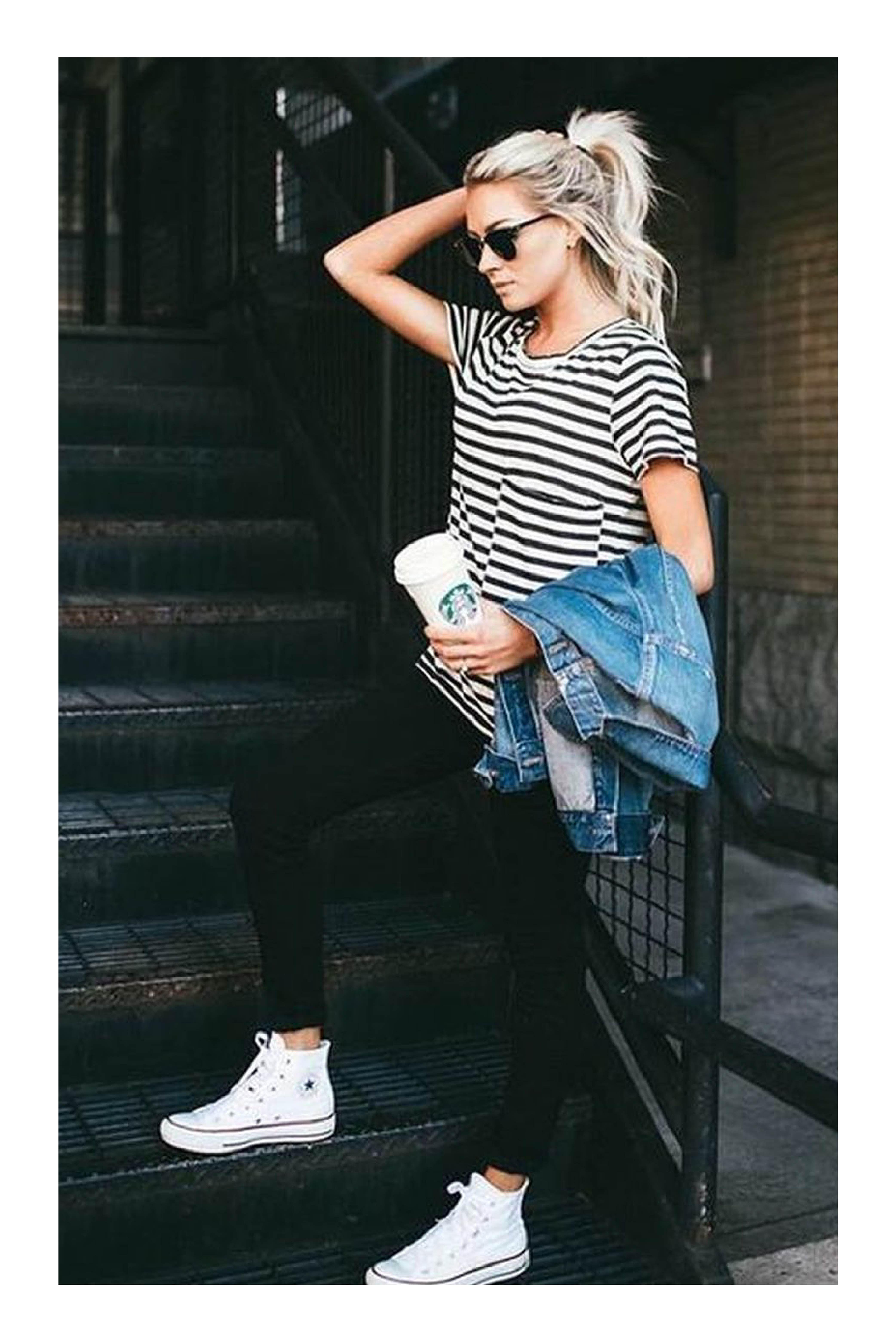 Cómo usar tus tenis blancos Tizkka | Ropa, Ropa de moda