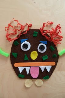 Make a monster kit - busy bag for toddlers