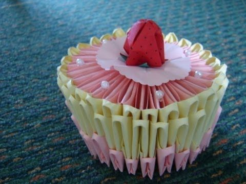 Astounding 3D Origami Birthday Cake With Images 3D Origami Cute Origami Funny Birthday Cards Online Alyptdamsfinfo