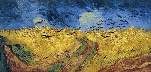 Vincent van Gogh -ampo de trigo con cuervos (julio de 1890) Pintura al óleo, 50 x 100 cm Museo Van Gogh, Ámsterdam.