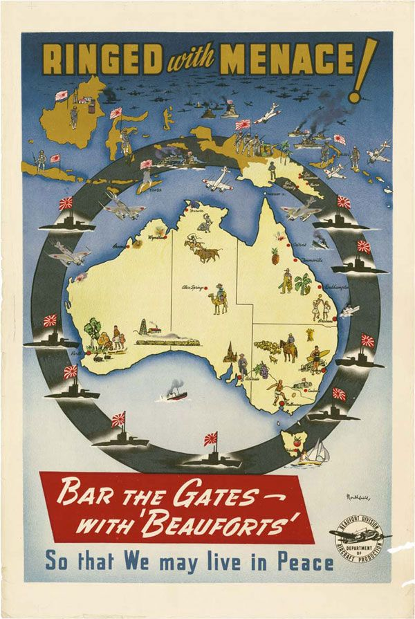 Australiau0027s WWII Japanese Invasion Paranoia, in Three Maps East - copy map japan world war 2