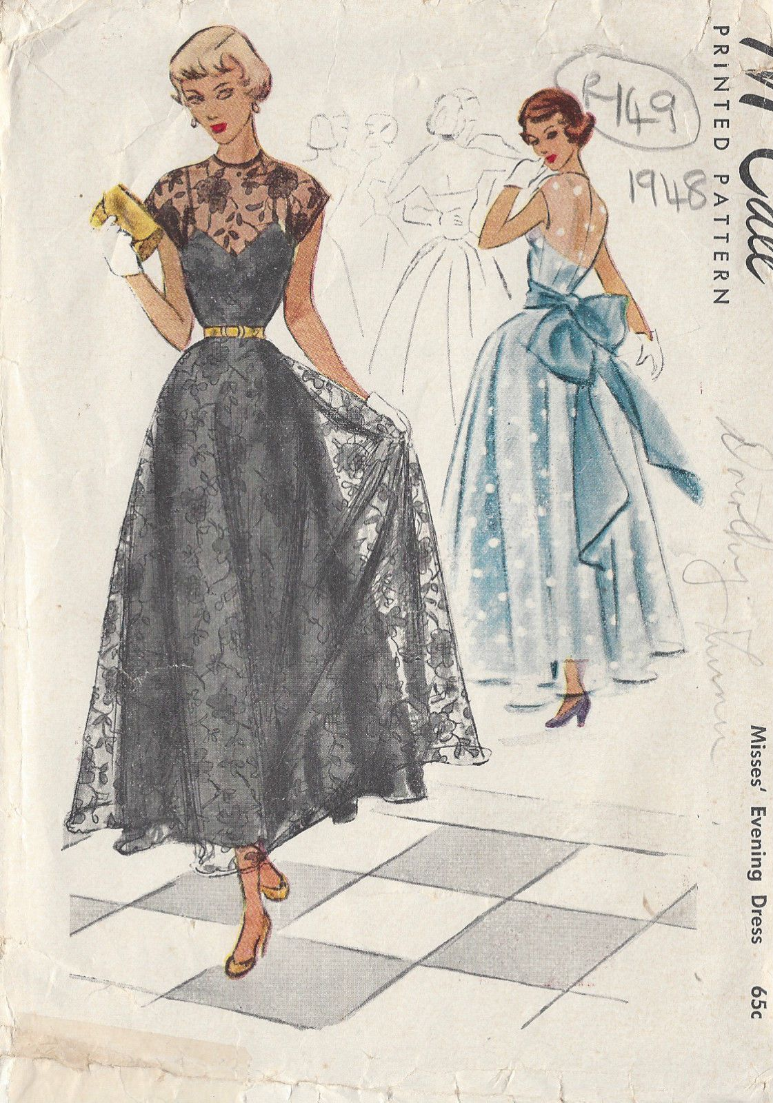 1948 Vintage Sewing Pattern B32\