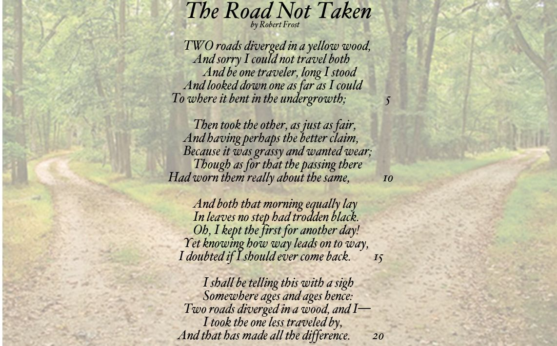 Road not taken robert frost analysis essay,