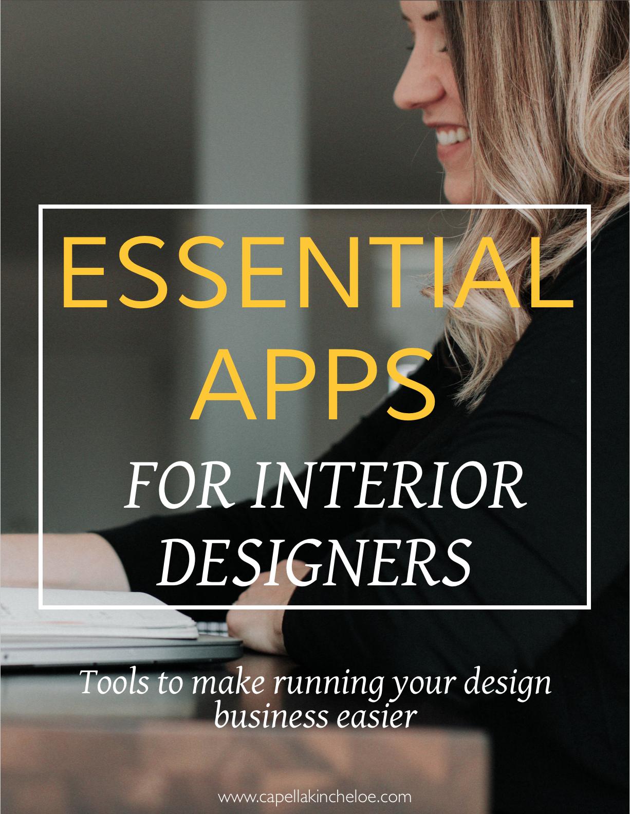 Essential Apps for Interior Designers