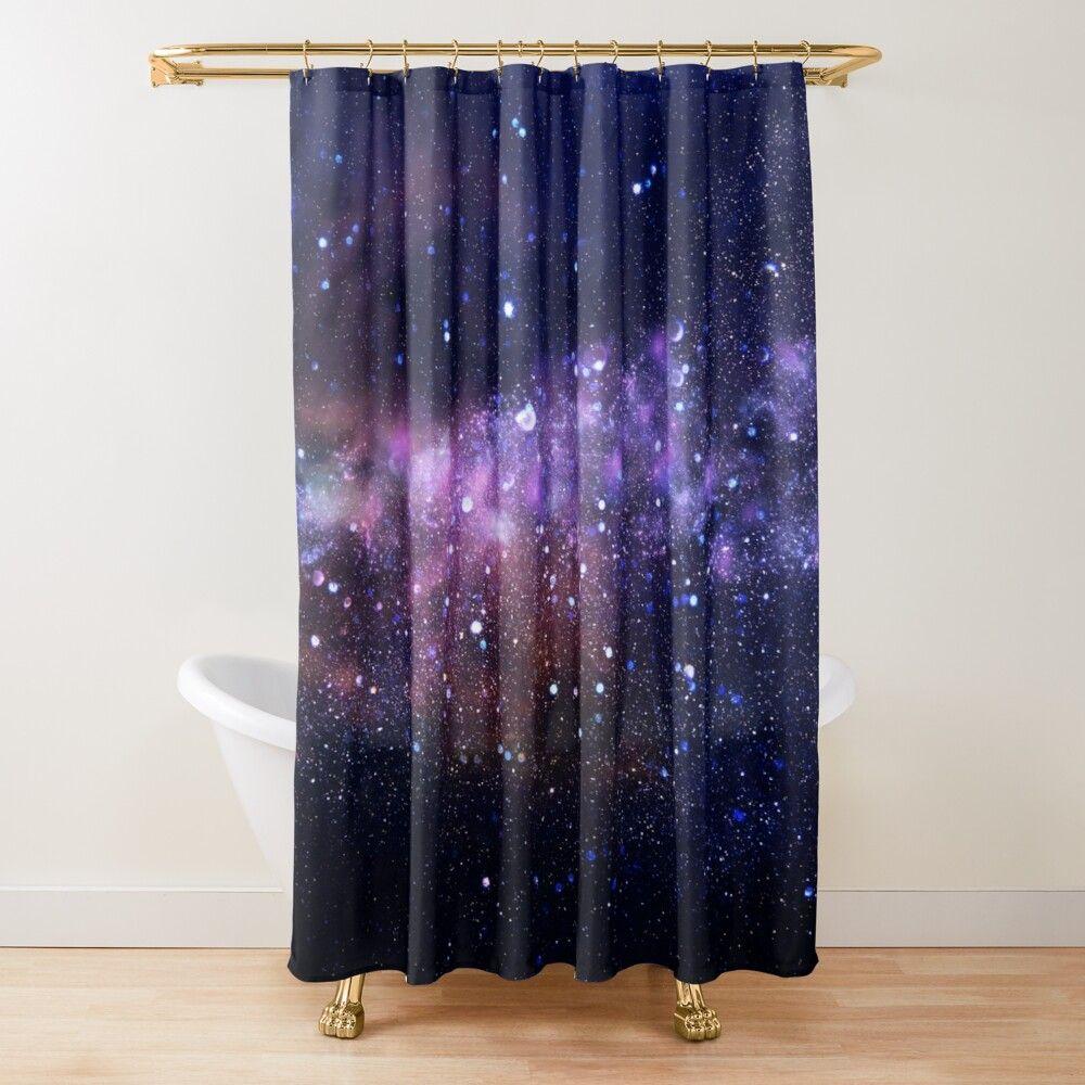 Galaxy Shower Curtain By Gloriannacenter In 2020 Purple Shower