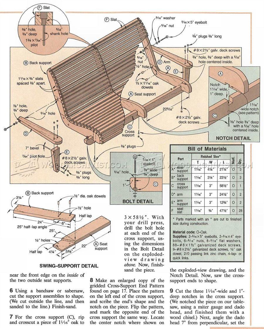1619 Planes de oscilación del pórtico - Planes Muebles de jardín ...