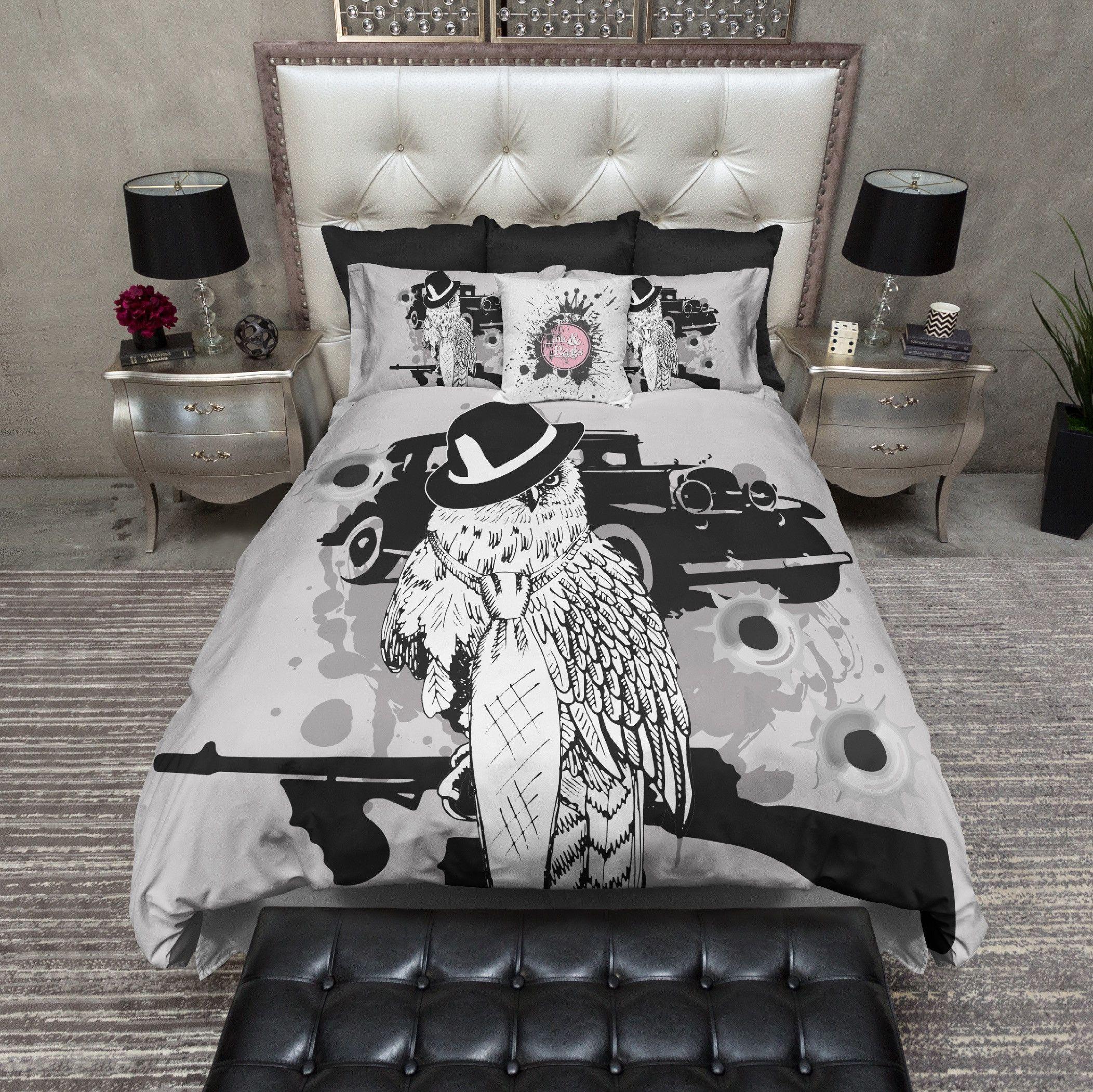 Gangster Owl Bedding With Images Duvet Bedding Sets Bedding