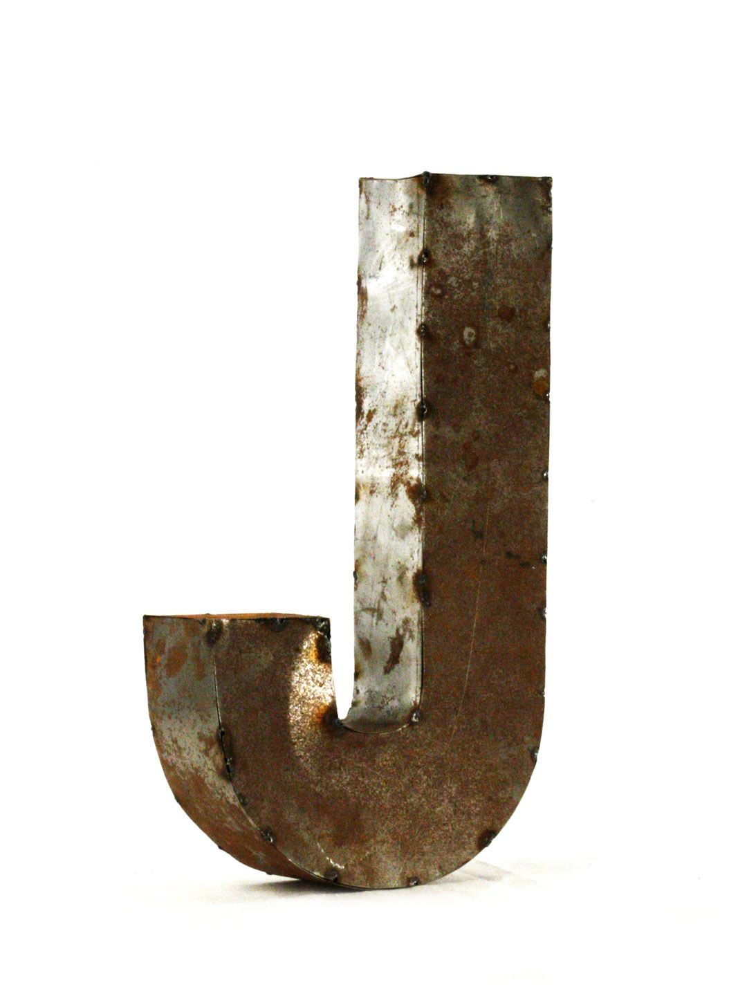 Rustic Metal Letters And Numbers Zentique  Rustic 3D Metal Letters And Numbers  Outdoor