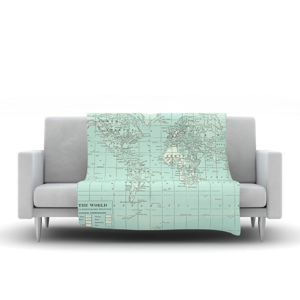 Catherine holcombe the old world blue teal fleece throw blanket catherine holcombe the old world blue teal fleece throw blanket from kess inhouse gumiabroncs Choice Image