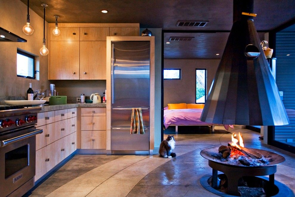 indoor-fire-pit-in-patio-contemporary-with-recessed-lighting-gas ...