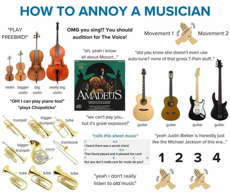 How to annoy a musician Music memes funny, Music memes