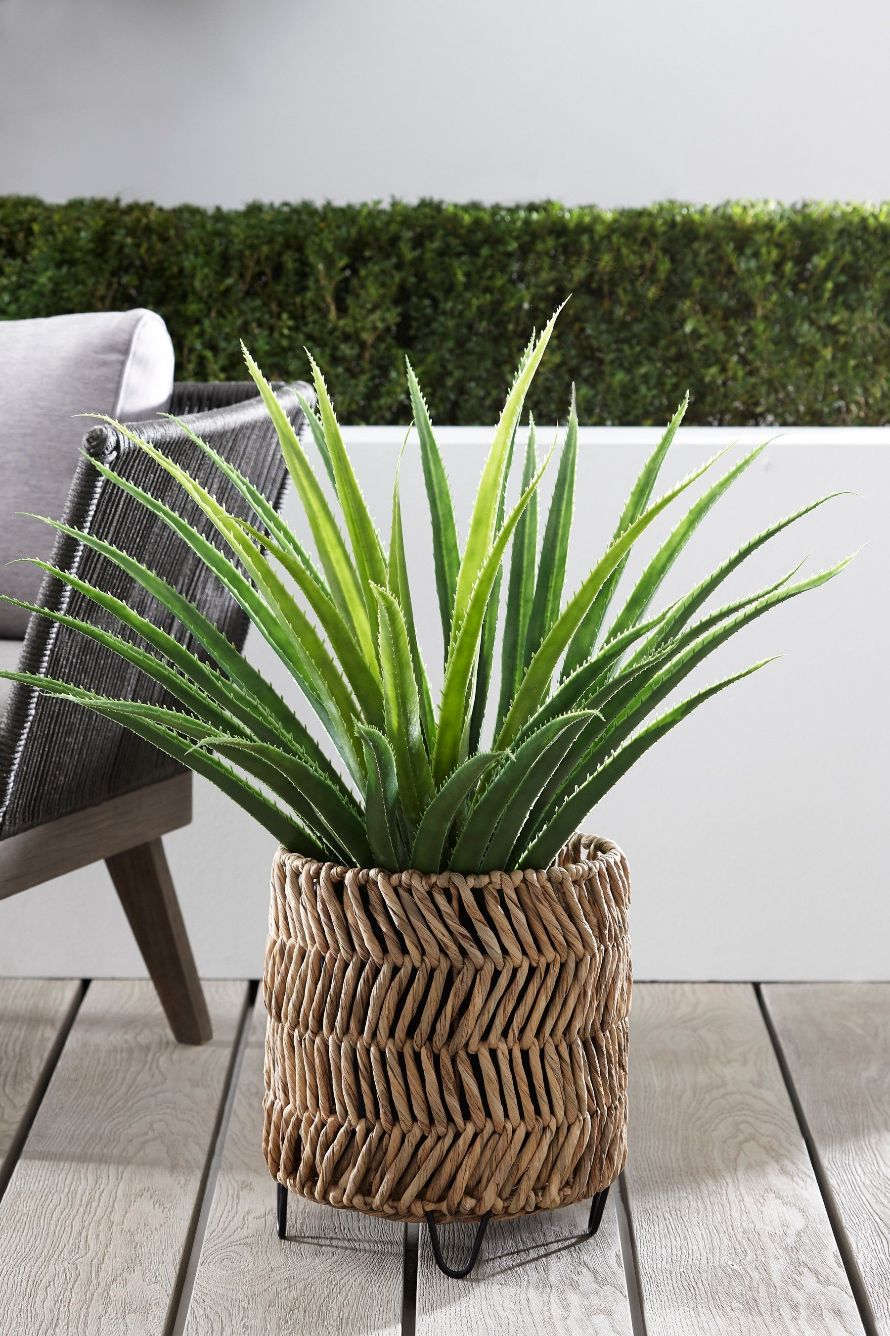 Buy Woven Plant Pot On Feet from the Next UK online shop