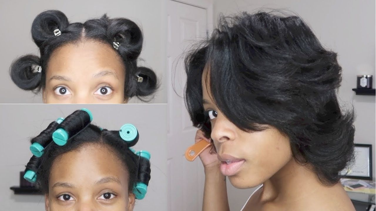 pressed relaxed hairstyles