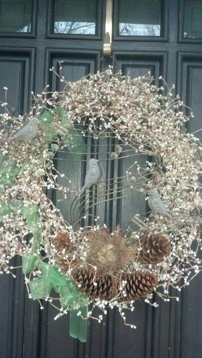 Winter Song wreath...my front door design for the Jan/Feb/Mar season ...
