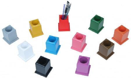 Farbige Montessori Stiftständer, 11 Stück im Set