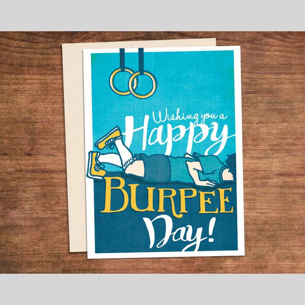 Happy Burpee Day Birthday Crossfit Fitness Greeting Card Scotts
