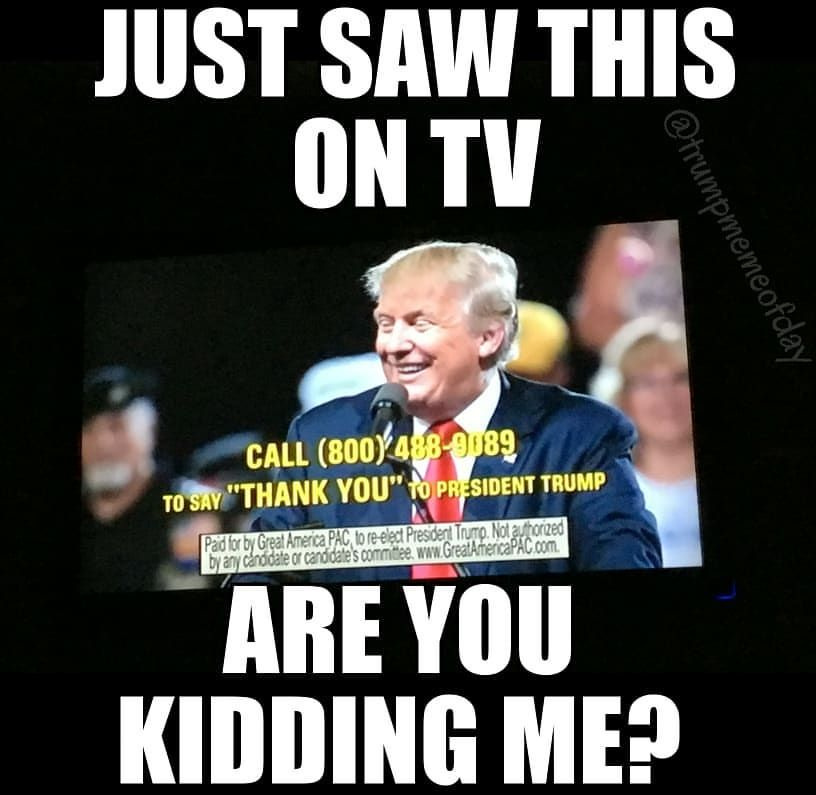 Thank Him Lol Tv Potus Maga Notmypresident Dumptrump Lol