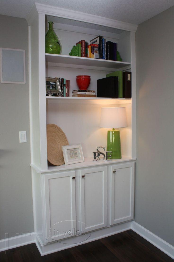 DIY Built in Bookshelves Fireplace DIY builtin