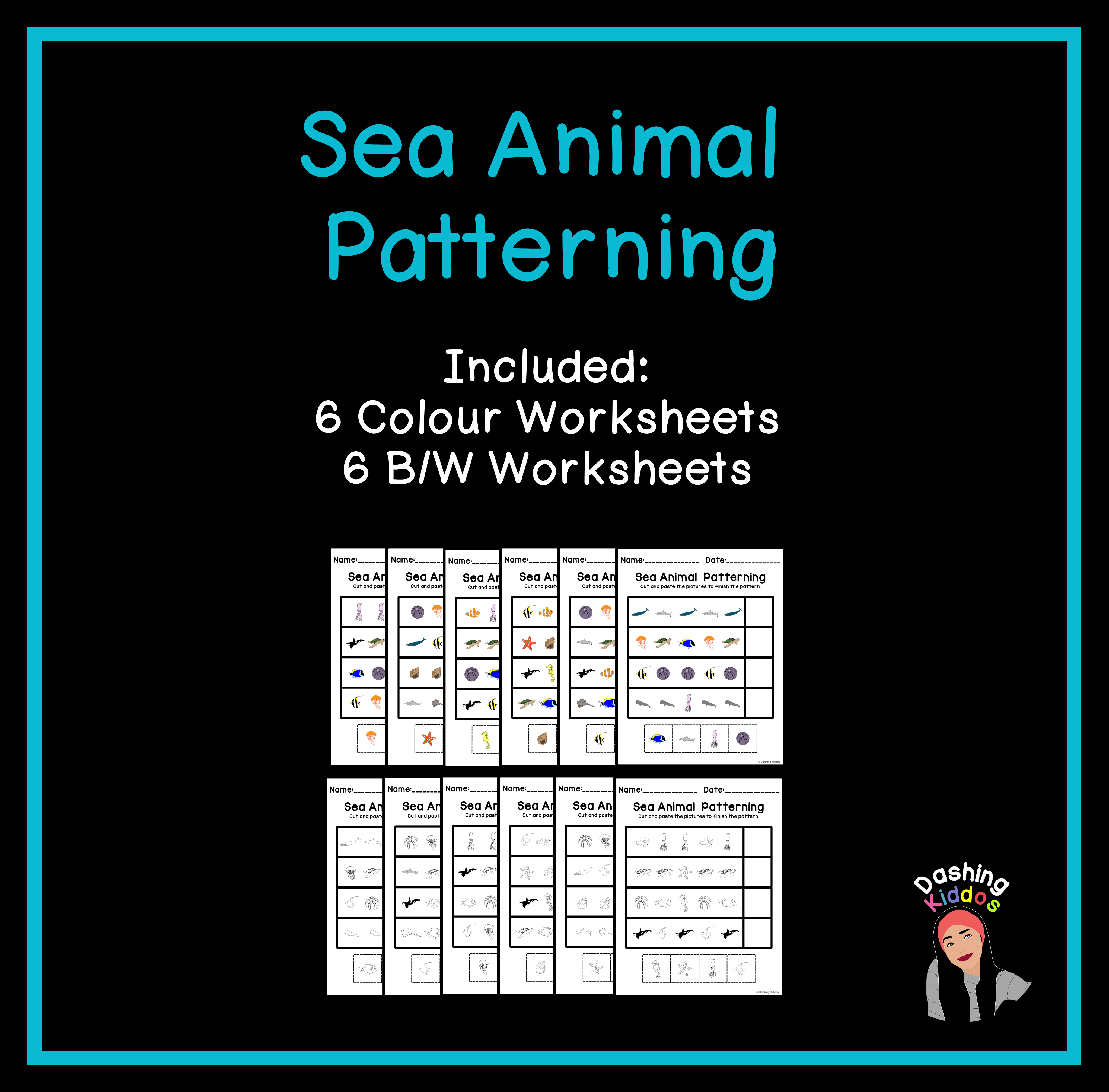 Sea Animal Patterning Worksheets Ab Aab Abc Abcd Word Families Elementary Resources Elementary Lesson [ 4026 x 4088 Pixel ]