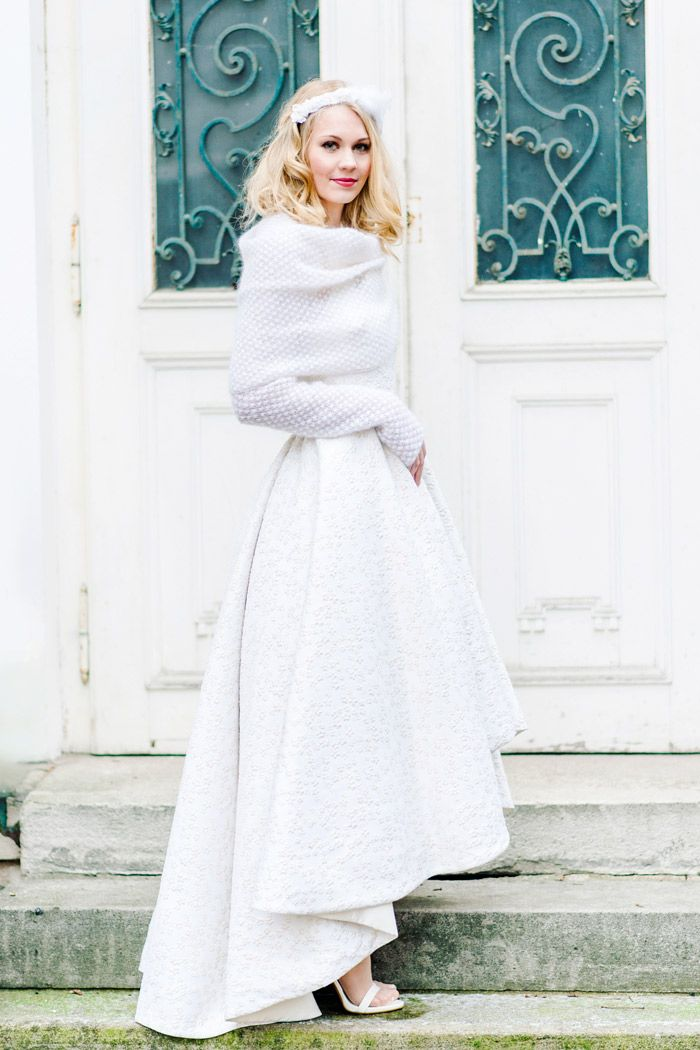 Brautkleid mit Strickbolero | Pinterest | Winter weddings, Wedding ...