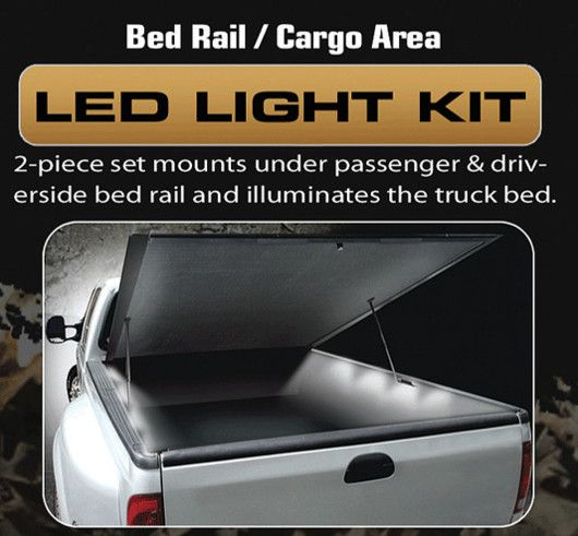 RECON Part # 26417 4' Foot Universal Bed Rail / Cargo Area