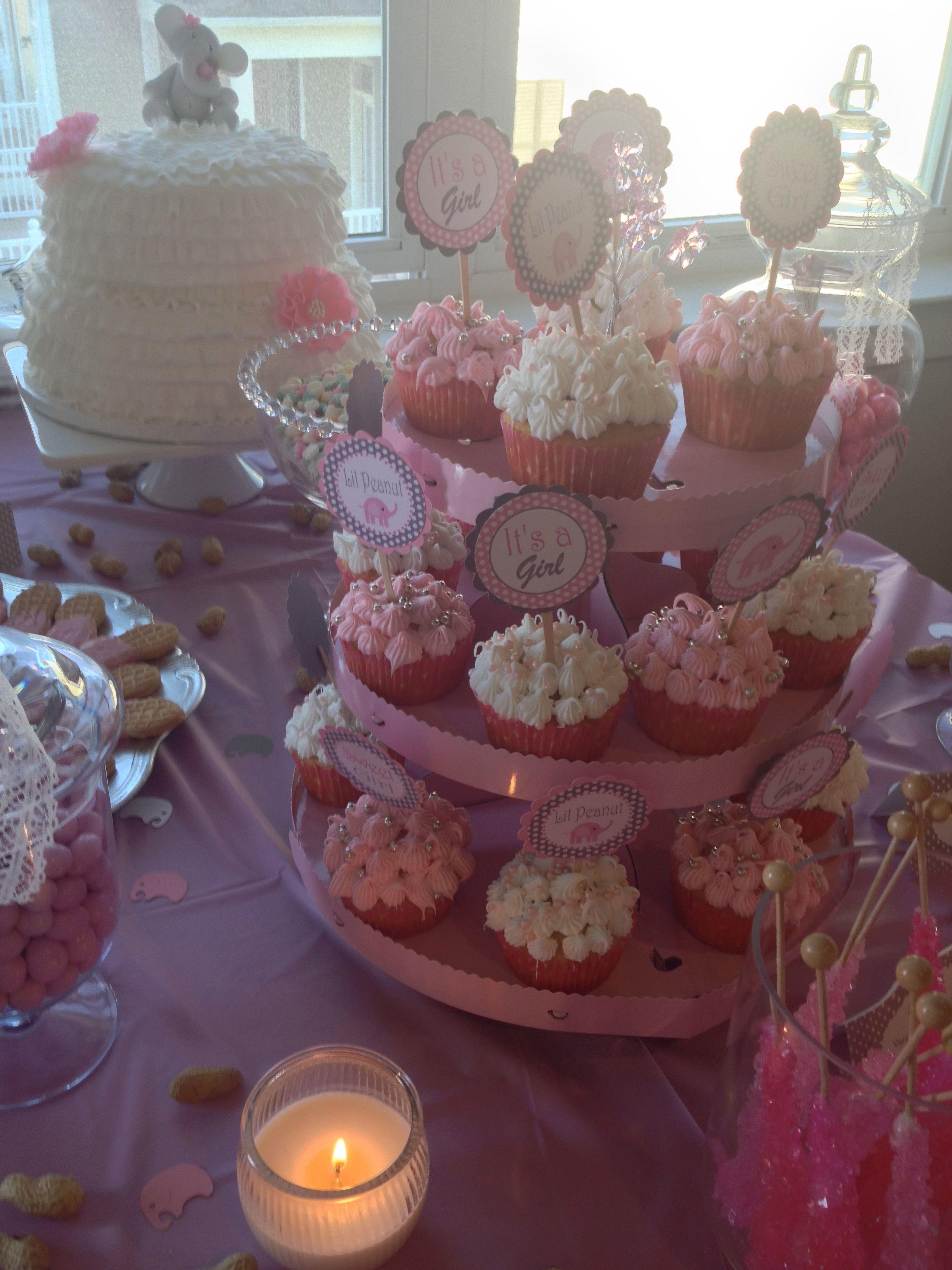 Ivory Cupcake and Wedding Cake Assortment