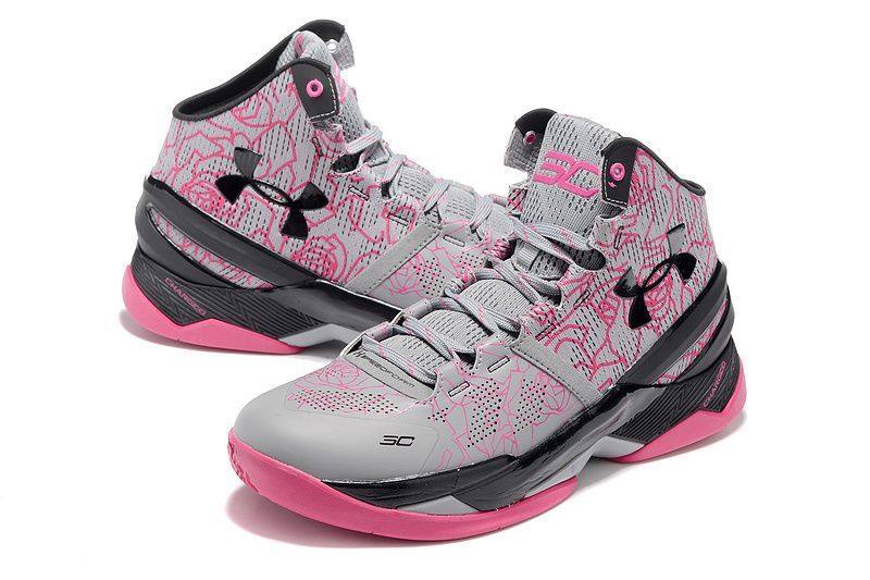 uk availability 55337 fac42 Cheap-Under-Armour-Curry-2-Mothers-Day-Light-Grey-Black-Pink-2