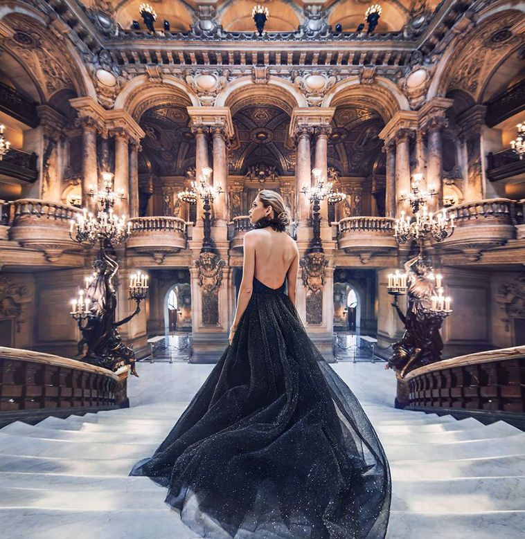 Russian Photographer Kristina Makeeva Captures Girls In Dresses Against Backgrounds Of The Most Beautiful Places #beautifulplaces