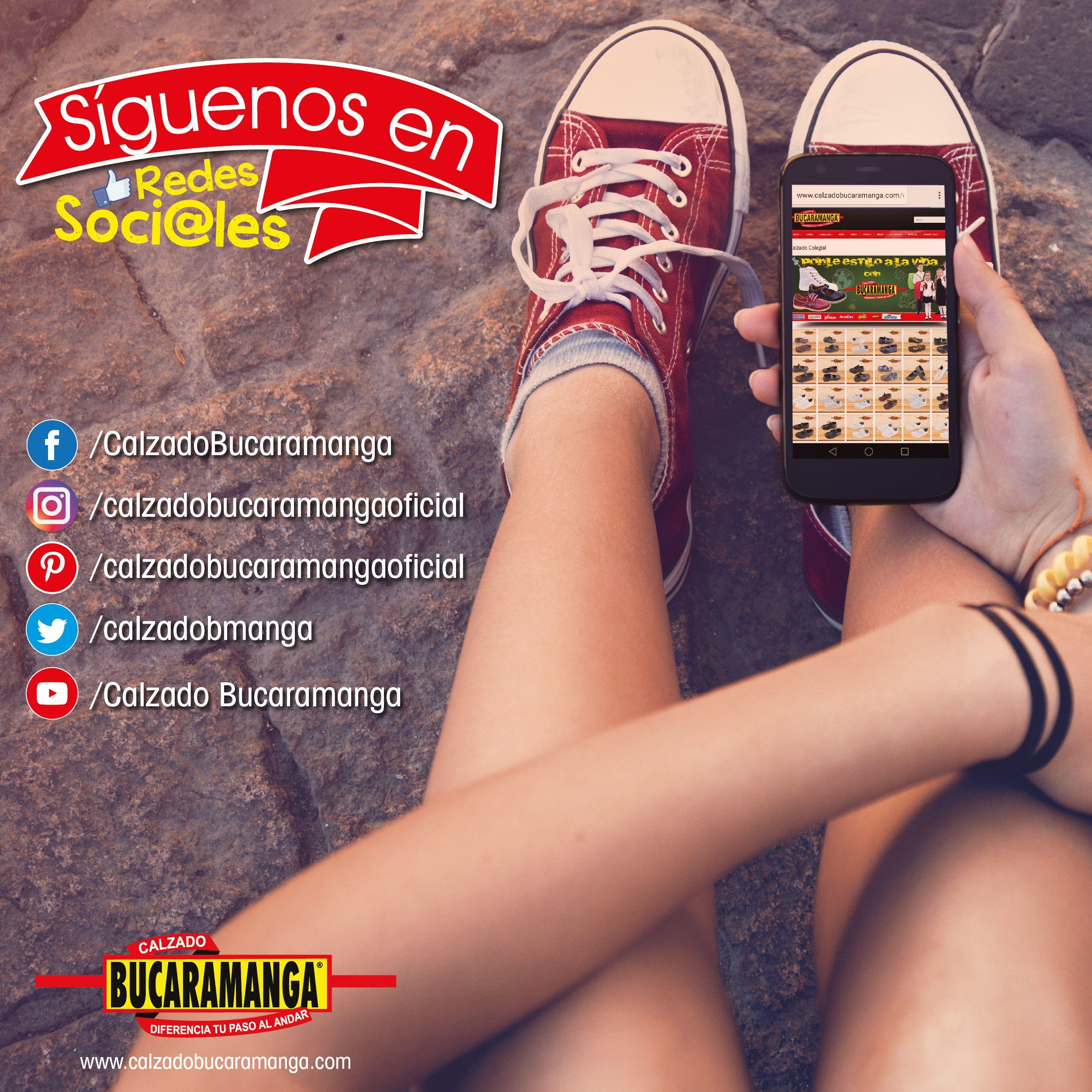 Mantente conectado con Calzado Bucaramanga ¡SIEMPRE!  Síguenos a través de todas nuestras RedesSociales ✅✅✅  🖥 www.calzadobucaramanga.com 📧 webmaster@calzadobucaramanga.com  #Instagram #Facebook #Twitter #Pinterest #Google+ #Youtube#Zapatos #Calzado #Moda #Tacones #Familia #look