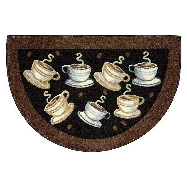Ordinary Coffee Rugs For Kitchen #9 - Coffee Kitchen Decor | Slice Coffee Cup Cappuchino Kitchen Small Area Rug  Throw Accent Decor