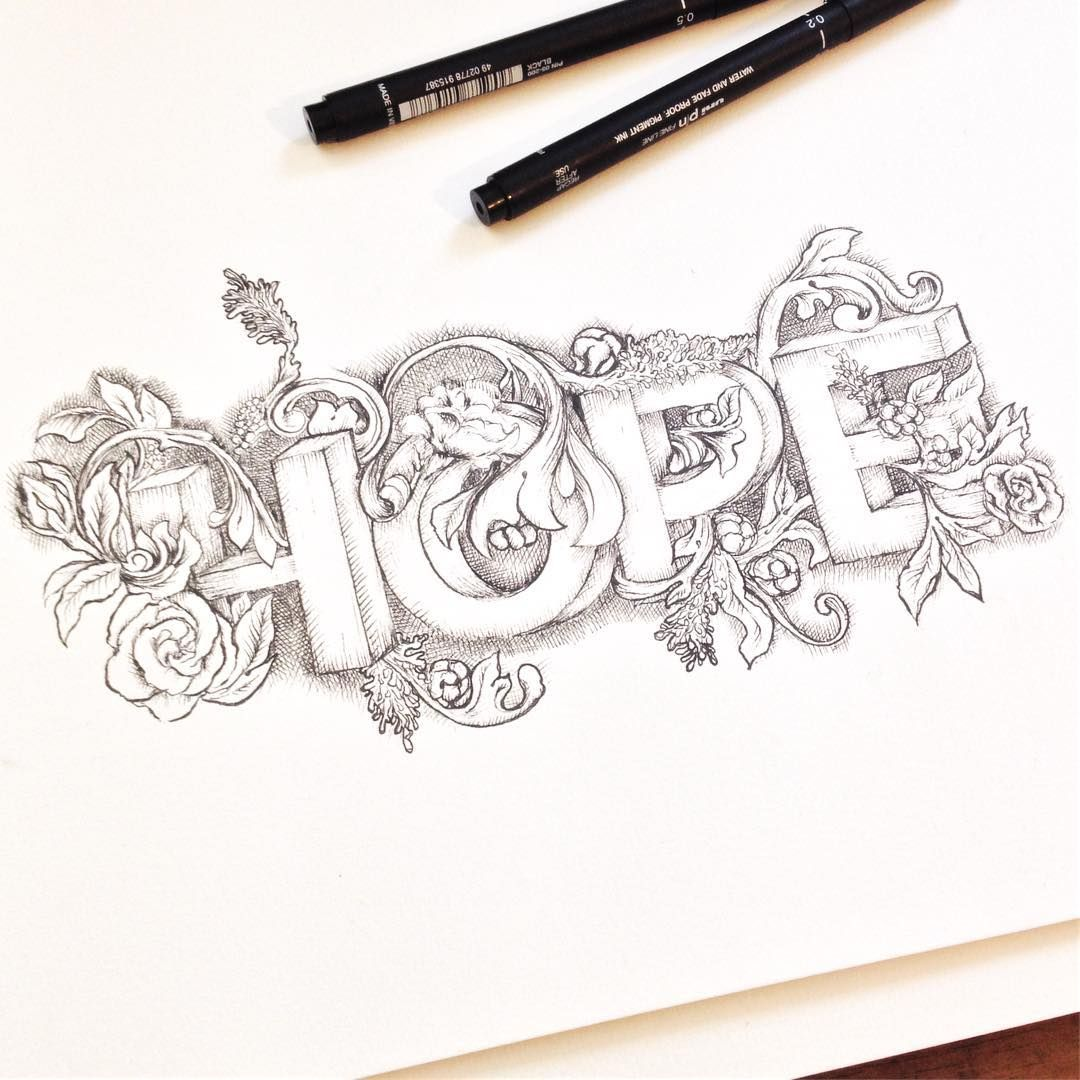 Hope And Hope Does Not Disappoint Us For God Has Poured Out His Love In Our Hearts I Ve Been Having A Pencil Art Drawings Graffiti Art Graffiti Lettering