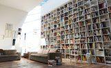 interlubke studimo boekenwand wandvullend hoog plafond boekenkast met trap greuter interieurs