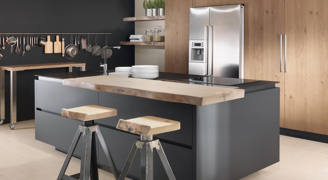Cucine Low Cost Brescia cuisine moderne bois et noir ! #kitchen #food (с
