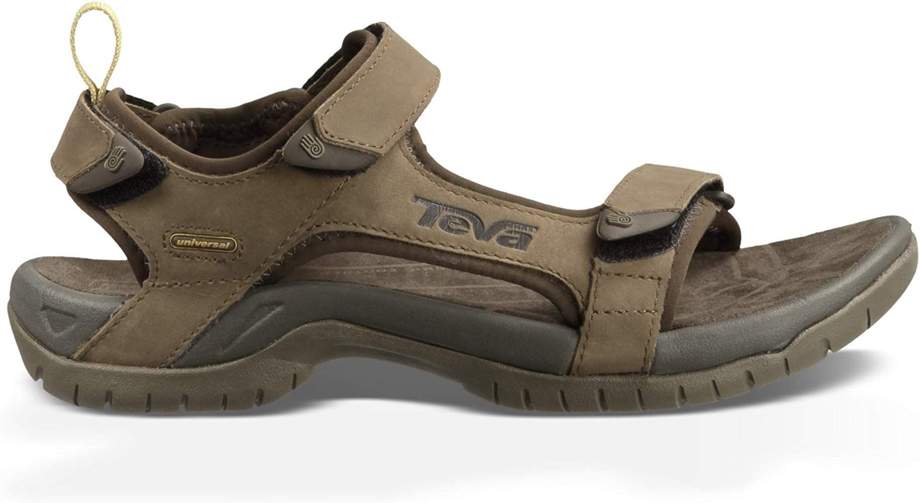 Teva Men's Tanza Leather Brown Sandal 1000183 13 UK, 14 US