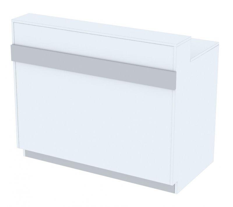 Verkaufstheke Serie MODUL Sitzkombination mit Sichtschutz