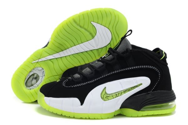 sale retailer 0d117 f3d5d Nike Air Max Penny Hardaway 1 Black White Green Basketball shoes