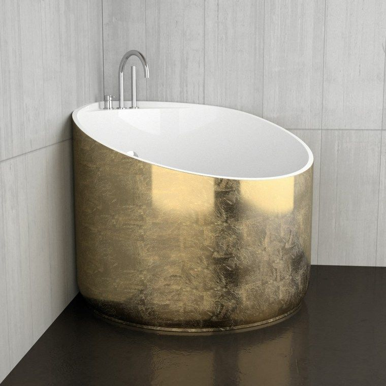 Salle de bain ardoise  naturelle et chic Corner bath, Petite and - salle de bain ardoise