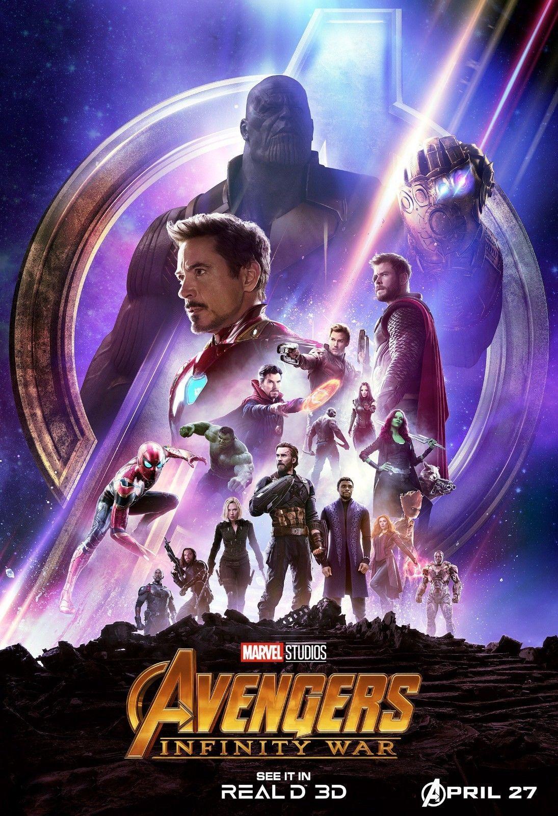 9 9 Avengers Infinity War Movie Poster Marvel Comics 13x20