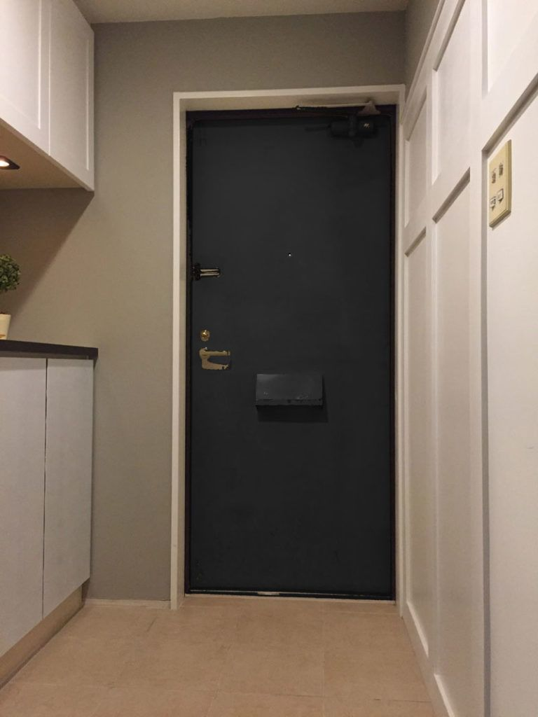 Diy リフォームで玄関 廊下をグレードアップ 玄関ドアをペイント 1